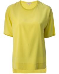 Camiseta con cuello circular amarilla de P.A.R.O.S.H.
