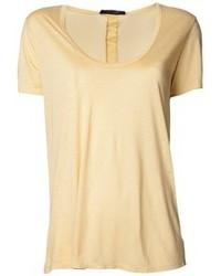 Camiseta con cuello circular amarilla de The Row