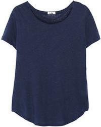 Camiseta con cuello circular azul marino