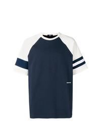 Camiseta con cuello circular azul marino de Calvin Klein 205W39nyc