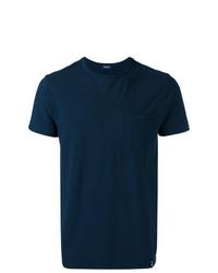 Camiseta con cuello circular azul marino de Drumohr