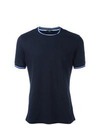 Camiseta con cuello circular azul marino de Fay