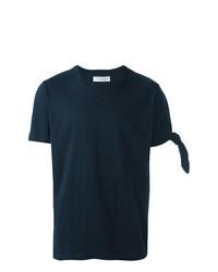 Camiseta con cuello circular azul marino de JW Anderson