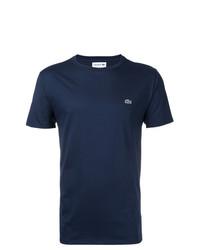 Camiseta con cuello circular azul marino de Lacoste