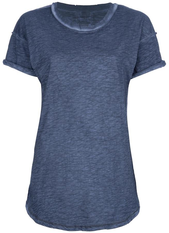 Camiseta con cuello circular azul marino de Laurence Dolige