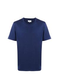 Camiseta con cuello circular azul marino de Maison Margiela