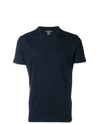 Camiseta con cuello circular azul marino de Majestic Filatures