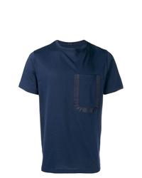Camiseta con cuello circular azul marino de Natural Selection