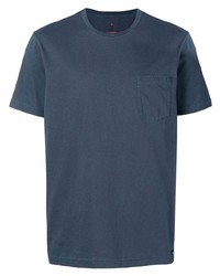 Camiseta con cuello circular azul marino de Parajumpers