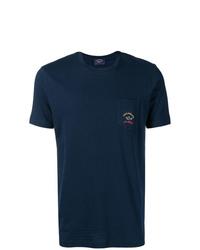 Camiseta con cuello circular azul marino de Paul & Shark