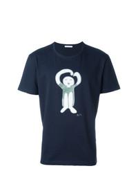 Camiseta con cuello circular azul marino de Societe Anonyme
