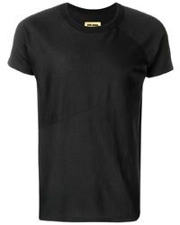 Camiseta con cuello circular azul marino de Uma Wang