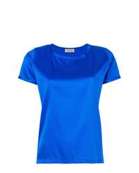 Camiseta con cuello circular azul de Blanca