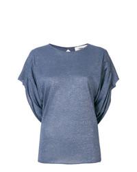 Camiseta con cuello circular azul de Circus Hotel