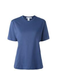 Camiseta con cuello circular azul de Comme Des Garcons SHIRT
