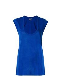 Camiseta con cuello circular azul de Isabel Marant Etoile