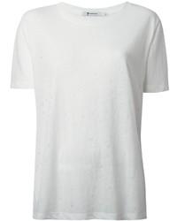 Camiseta con cuello circular blanca de Alexander Wang