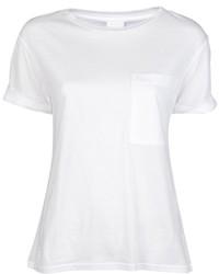Camiseta con cuello circular blanca de AR+