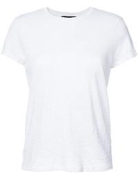 Camiseta con cuello circular blanca de ATM Anthony Thomas Melillo