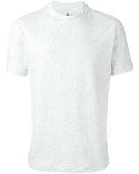 Camiseta con cuello circular blanca de Brunello Cucinelli