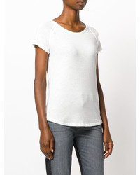 Camiseta con cuello circular blanca de Closed