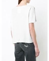 Camiseta con cuello circular blanca de Mother