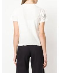 Camiseta con cuello circular blanca de Simon Miller