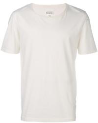 Camiseta con cuello circular blanca de Maison Margiela