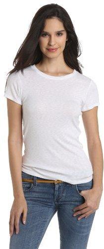 Camiseta con cuello circular blanca de Michael Stars