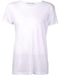 Camiseta con cuello circular blanca de Proenza Schouler