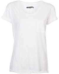 Camiseta con cuello circular blanca de Rag and Bone
