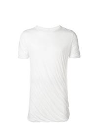 Camiseta con cuello circular blanca de Rick Owens