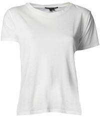 Camiseta con cuello circular blanca de Theory
