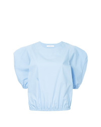Camiseta con cuello circular celeste de ASTRAET