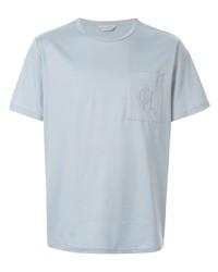 Camiseta con cuello circular celeste de Gieves & Hawkes