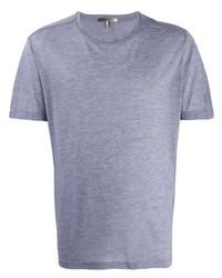 Camiseta con cuello circular celeste de Isabel Marant