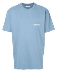 Camiseta con cuello circular celeste de Off Duty