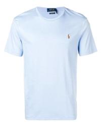 Camiseta con cuello circular celeste de Polo Ralph Lauren