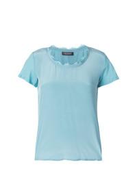Camiseta con cuello circular celeste de Twin-Set