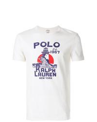Camiseta con cuello circular con adornos blanca de Polo Ralph Lauren