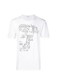 Camiseta con cuello circular con adornos blanca de Versace Collection