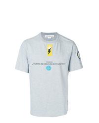 Camiseta con cuello circular con adornos gris de Golden Goose Deluxe Brand