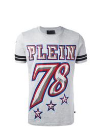 Camiseta con cuello circular con adornos gris de Philipp Plein