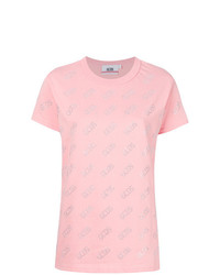 Camiseta con cuello circular con adornos rosada de Gcds