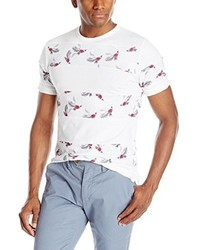 Camiseta con Cuello Circular con print de flores Blanca de French Connection