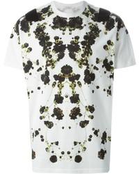 Camiseta con cuello circular con print de flores blanca de Givenchy