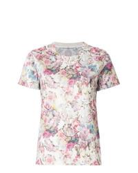Camiseta con cuello circular con print de flores blanca de Golden Goose Deluxe Brand