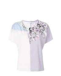 Camiseta con cuello circular con print de serpiente rosada de Marcelo Burlon County of Milan