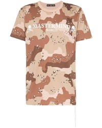 Camiseta con cuello circular de camuflaje marrón de Mastermind Japan