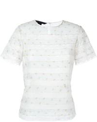 Camiseta con cuello circular de encaje blanca de Marc by Marc Jacobs